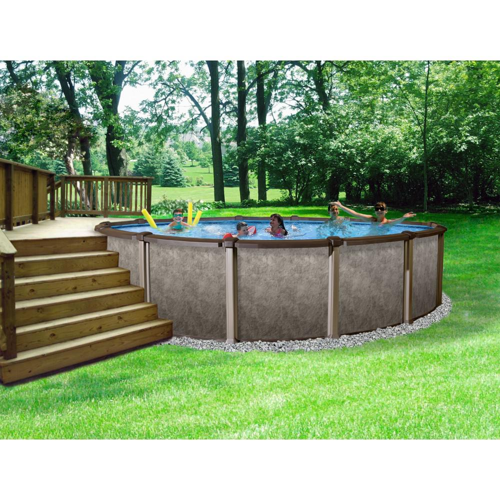 Above Ground Fiberglass Pool Installation